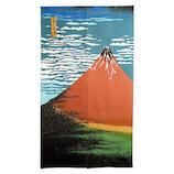 秩父型染のれん 北斎の赤富士 85×150cm