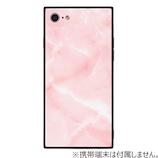 【iPhone8/7】 EYLEスクエア型ケース TILE 大理石 ピンク