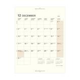 【2018年12月始まり】 LACONIC カレンダーリフィル A5 マンスリーブロック LUR07-50 月曜始まり