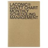 【2019年3月始まり】 LACONIC ペーパー マンスリーガントチャート A5 ブラウン1(黒箔) 月曜始まり