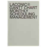 【2019年3月始まり】 LACONIC ペーパー マンスリーガントチャート A5 グレー1(黒箔) 月曜始まり
