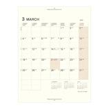 【2019年3月始まり】 LACONIC マンスリーブロックカレンダー A5 リフィル  月曜始まり