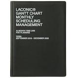 【2019年9月始まり】 ラコニック(LACONIC) ハードカバー 月間ガントチャート A5 LGMS01−200 ブラック 月曜始まり
