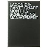【2019年9月始まり】 ラコニック(LACONIC) ペーパー 月間ガントチャート A5 LGMS04−100 ブラック 月曜始まり