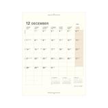 【2020年12月始まり】 ラコニック(LACONIC) 仕事計画ダイアリー リフィル A5 差し込み式1ヶ月ブロックカレンダー LUR11-50 月曜始まり