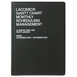 【2020年12月始まり】 ラコニック(LACONIC) 仕事計画ダイアリー A5 見開き1ヶ月ガントチャート LGMD06-200BK ブラック 月曜始まり