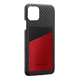 【iPhone11ProMax】 monCarbon HOVERSKIN サフィアーノ HSXI03 レッド