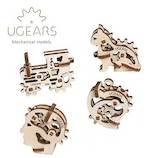 ユーギアーズ(UGEARS) メカニカルモデル U-フィジェット トライビックス 0029│工作用品 工作キット