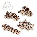 ユーギアーズ(UGEARS) メカニカルモデル U-フィジェット 乗り物 70033│工作用品 工作キット