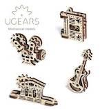 ユーギアーズ(UGEARS) メカニカルモデル U-フィジェット クリエーション 041│工作用品 工作キット