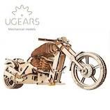 ユーギアーズ(UGEARS) メカニカルモデル バイク VM-0270051│工作用品 工作キット