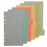 日本能率協会 Bindex カラーインデックス ヨコ6 609 アースカラー 6枚入