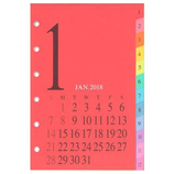 【2018年1月始まり】 日本能率協会 Bindex リフィル ミニ6サイズ ウィークリー&マンスリー カレンダー+1週間メモ インデックス付き P056