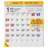 【2021年版・壁掛け】 NOLTY カレンダー28 2021-C118