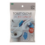 オーエ トイレクリーングローブ 使い捨てタイプ 10枚入│清掃用具 ゴム手袋