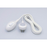 ELPA 手元スイッチ コード3m WTS-300B ホワイト