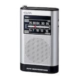 エルパ(ELPA) AM/FMポケットラジオ ER‐P66F│オーディオ機器 ラジオ