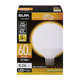 エルパ(ELPA) 電球ボール形 LDG7L−G−G2104 電球色│LED電球・LED蛍光灯