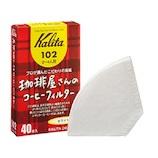 カリタ 珈琲屋さんのコーヒーフィルター 102 ホワイト 40枚