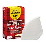カリタ 珈琲屋さんのコーヒーフィルター 102 ホワイト 100枚│茶器・コーヒー用品 コーヒードリッパー・フィルター