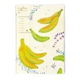 【2020年12月始まり】 クツワ カラーインデックス手帳 A5薄型 マンスリー 007SHB バナナとハーブ 月曜始まり
