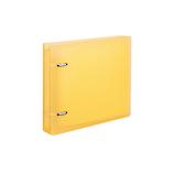 コクヨ CD/DVDファイル 22枚収容 ケース付 EDF−CF221LY ライトイエロー