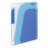 コクヨ ノビータ ポケットブック A4S ラ−N205B チャックポケット付 透明青│ファイル レール式・挟み込みファイル
