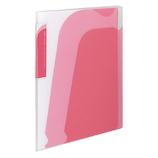 コクヨ ノビータ ポケットブック A4S ラ−N205P チャックポケット付 透明ピンク