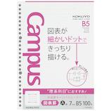 コクヨ(KOKUYO) 学習罫キャンパスルーズリーフ 図表罫 7mm B5 ノ−F836AK 100枚