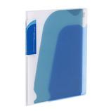 コクヨ(KOKUYO) ポケットブック ノビータA5 縦チャックポケット付 ラ−N202B 透明青