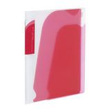 コクヨ(KOKUYO) ポケットブック ノビータA5 縦チャックポケット付 ラ−N202P 透明ピンク