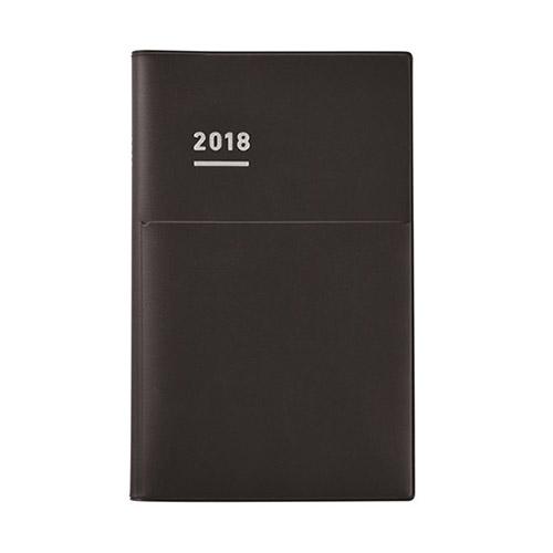 【2017年12月始まり】 ジブン手帳 Bizmini B6スリム ウィークリー ニ-JBM1D-18 マットブラック 月曜始まり