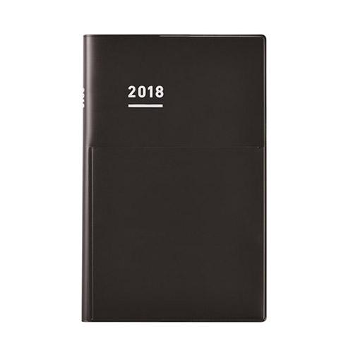 【2017年12月始まり】 ジブン手帳 Biz_mini B6スリム ウィークリー ニ-JBM2D-18 ツヤクロブラック 月曜始まり