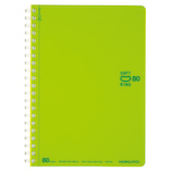 コクヨ(KOKUYO) ソフトリング ドットB罫 B6 ス−SV348BT−LG 黄緑 80枚│ノート・メモ リングノート
