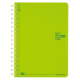 コクヨ(KOKUYO) ソフトリング ドットB罫 A6 ス−SV358BT−LG 黄緑 80枚