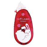コクヨ ドットライナーコンパクト テープのり タ−DM4500−08L16 限定柄 ウサギ