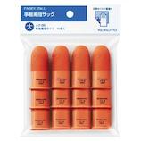 コクヨ(KOKUYO) 事務用指サック パック入り 12本入り 大 メク-3B 橙│クリップ・ステープラー 指サック・紙めくり