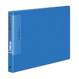 コクヨ クリヤーブック ウェーブカット 替紙式 A4横 ラ−T725B 15枚 青