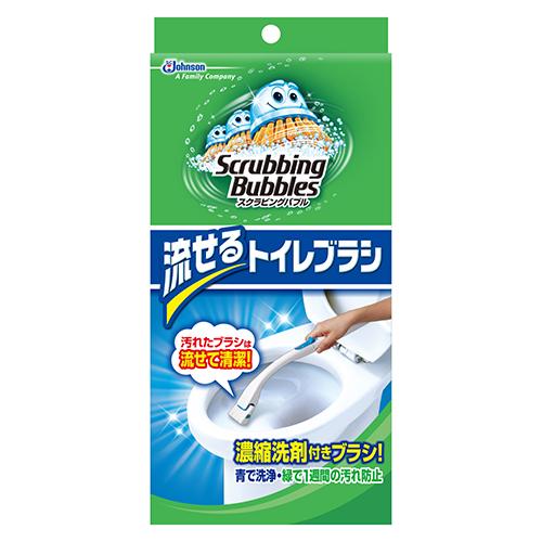 ジョンソン シャット流せるトイレブラシ 本体│トイレ掃除用品 トイレブラシ