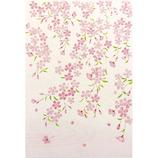 サンリオ 白地ピンクのしだれ桜 208086