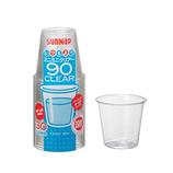 サンナップ ミニミニ90 クリアーカップ 90ml 30個入│使い捨て容器・食器 使い捨て容器