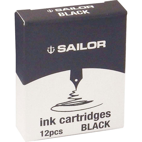 【クリックで詳細表示】セーラー カートリッジインク ジェントルインク ブラック 12本入