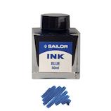 セーラー万年筆 万年筆用ボトルインク ブルー 50mL│万年筆 万年筆インク