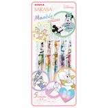 ゼブラ(ZEBRA) サラサクリップ マーブルカラー ディズニーコラボ 0.5mm JJ29‐DS3‐5C 5色セット│ボールペン 水性ボールペン