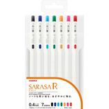 ゼブラ(ZEBRA) サラサR 0.4 JJS29−R1−7C 7色セット│ボールペン ゲルインクボールペン