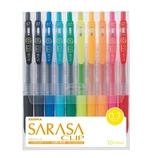 ゼブラ サラサクリップ 0.7mm 10色セット JJB15‐10CA│ボールペン 水性ボールペン