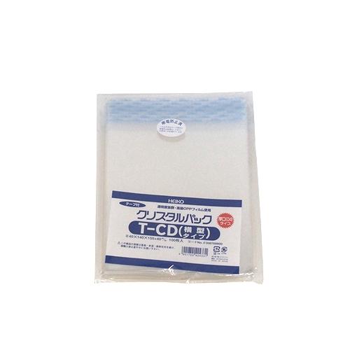 シモジマ ヘイコー クリスタルパック 04T-CD(横型)(テープ付き) 厚口04タイプ 100枚 │梱包資材 ビニール袋・ポリ袋