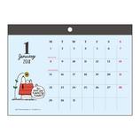 【2018年版・壁掛】 サンスター文具 ウォールカレンダー マグネット S8516650 スヌーピー
