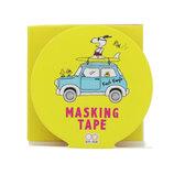 サンスター文具 ピーナッツ プレイウィズカラーズ3 マスキングテープ 30mm S4835085 サーフ│シール マスキングテープ