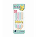 ショウワノート サラサクリップ 4色セット 0.5mm 860728005 ポケモン A│ボールペン 水性ボールペン